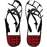 0880b93fa Tailing Flip Flops Resist Resist Resist Unisex Trendy Print Slippers Beach  Sandal