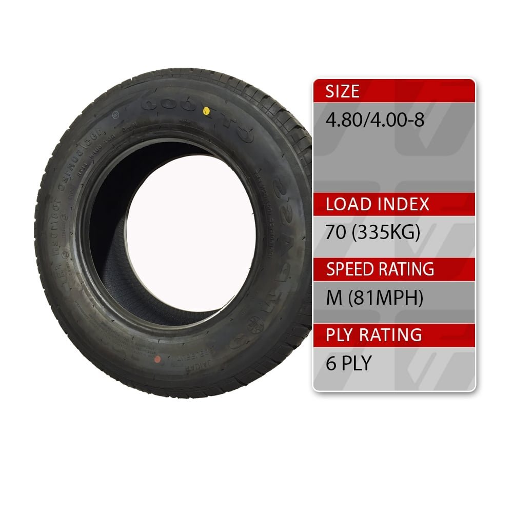 4.80//4.00-8 70M 6 Ply Trailer Spare Tyre