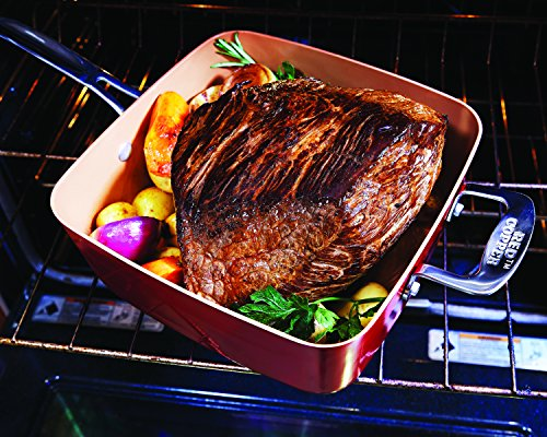 Bulbhead 11198 Red Copper Square Pan 5 Piece Set By