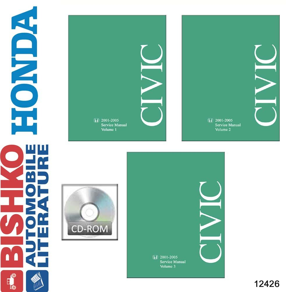Amazon.com: bishko automotive literature 2001 2002 2003 2004 2005 Honda  Civic Shop Service Repair Manual CD Engine OEM: Automotive