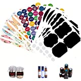 Waterproof Essential Oil Labels - 12 Sheet (228pcs) DIY Colorful Labels for Essential Oil Bottles,Storge Jar,Oil bottles…