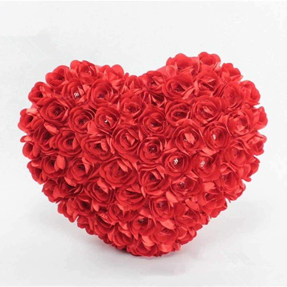 LTL Valentine Rose Pillow 40cm Plush Sofa Cushion car Cushion Bedding Home Furnishing Exquisite Decorations,?,20cm,
