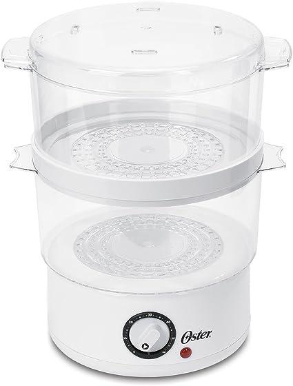 Oster CKSTSTMD5-W Vaporera de 4,7 litros, blanca: Amazon.es: Hogar