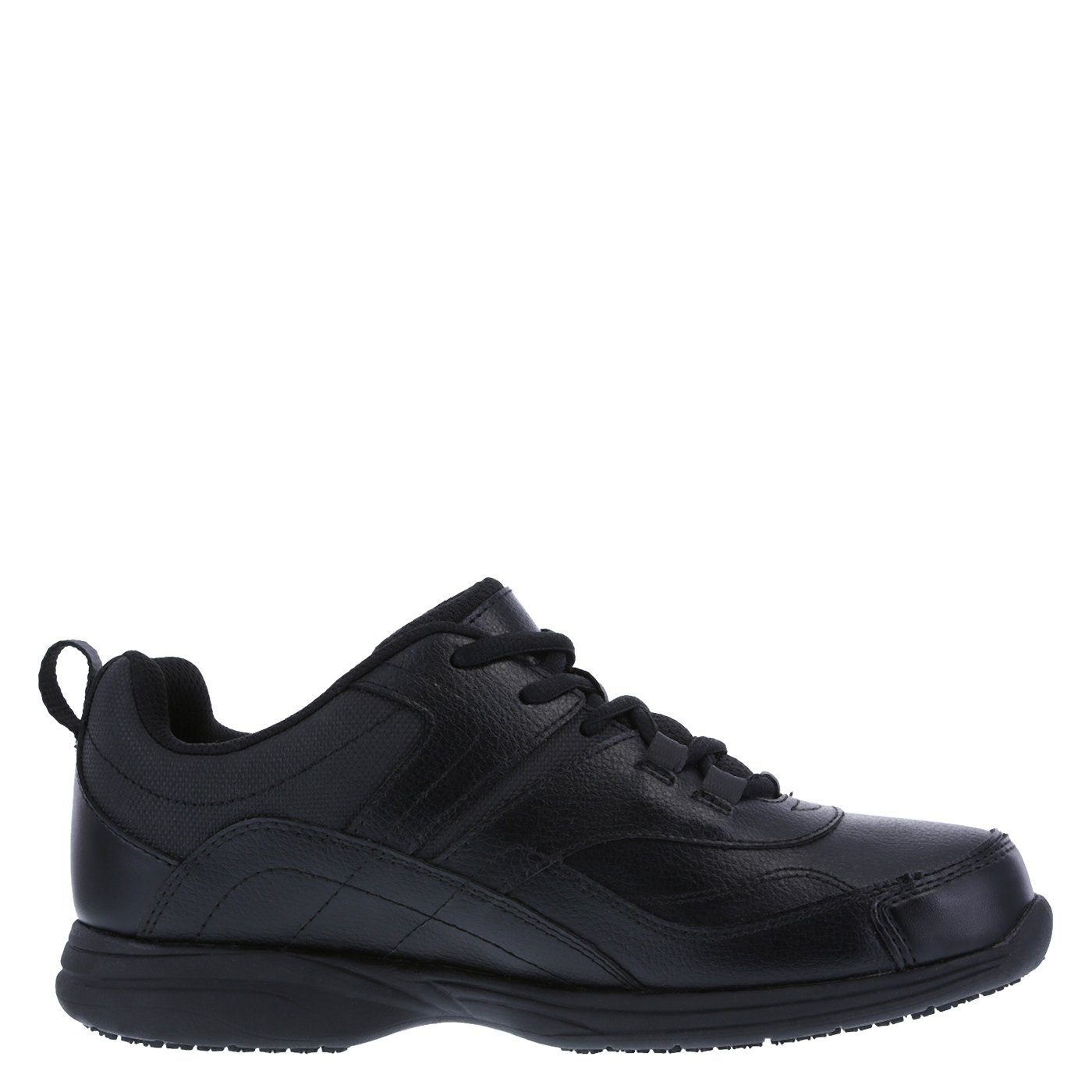 safeTstep Slip Resistant Women's Black Women's Athena Sneaker 7 Regular by safeTstep (Image #2)