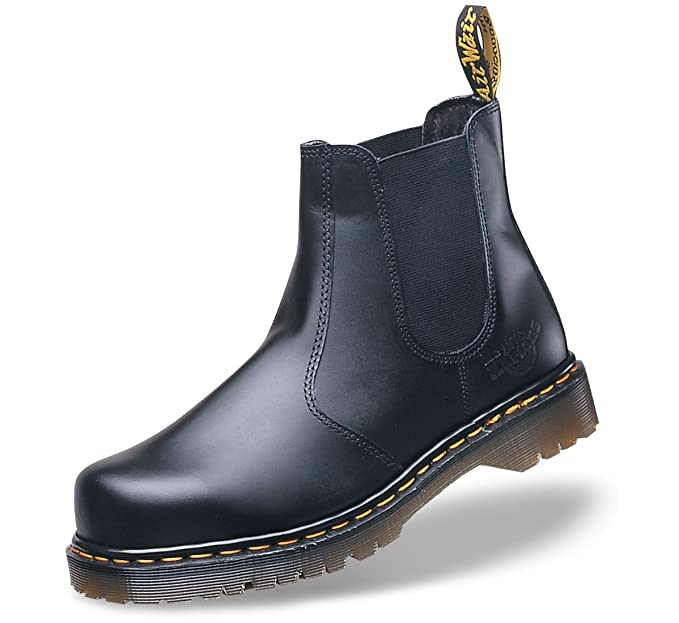 87b2c09334 Dr Martens Airwair Industrial Black Leather Safety Toe Dealer Boot UK 12  (DM609A): Amazon.co.uk: Shoes & Bags