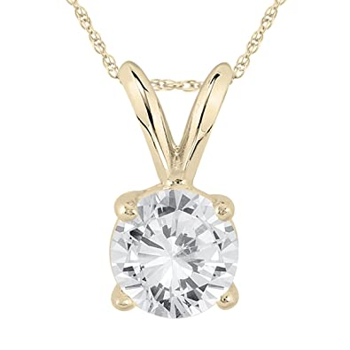ct solitaire gold replica product pendant necklace carat diamond