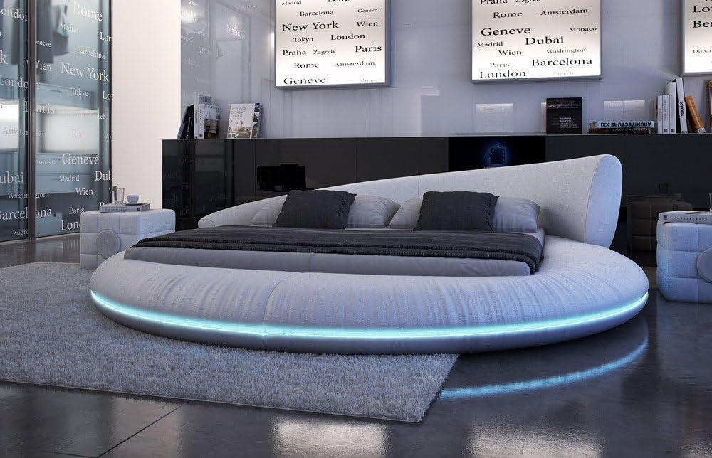 SAM® redondo cama raisani con iluminación LED 180 x 220 cm en ...