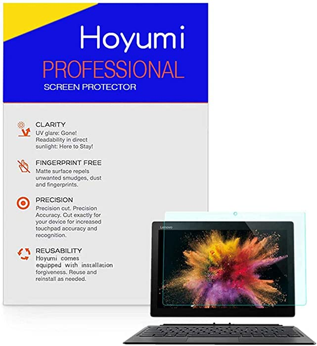 Hoyumi Screen Protector for Lenovo Miix 520 12.2 Inch Tablet Laptop Anti Glare Full Screen 2Pcs (12 Inch, Matte Screen Protector) (12.2 Inch, Matte Screen Protector)