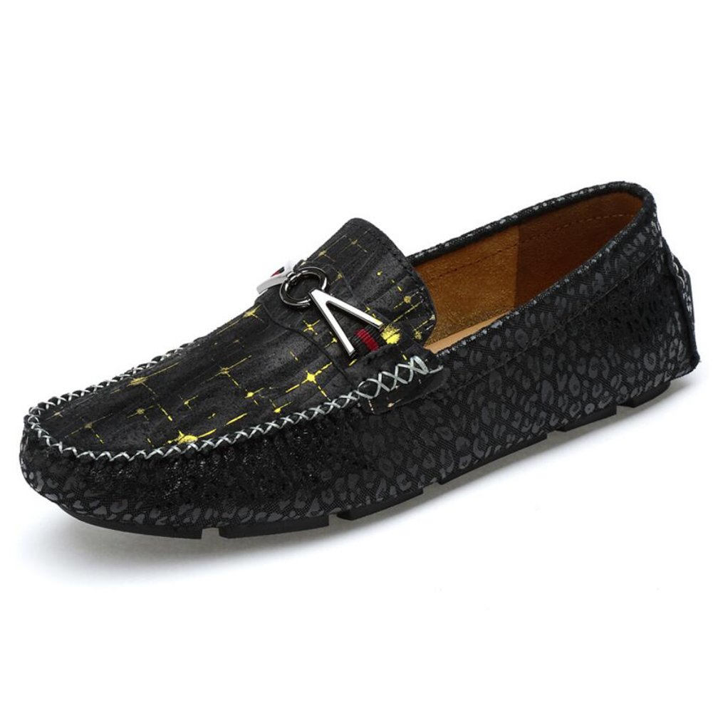 CAI Herren Freizeitschuhe 2018 Sommer Herbst Peas Schuhe Wildleder Faule Schuhe Fahr Schuhe Herren große Größe Loafers & Slip-Ons (Farbe   Schwarz, Größe   39)
