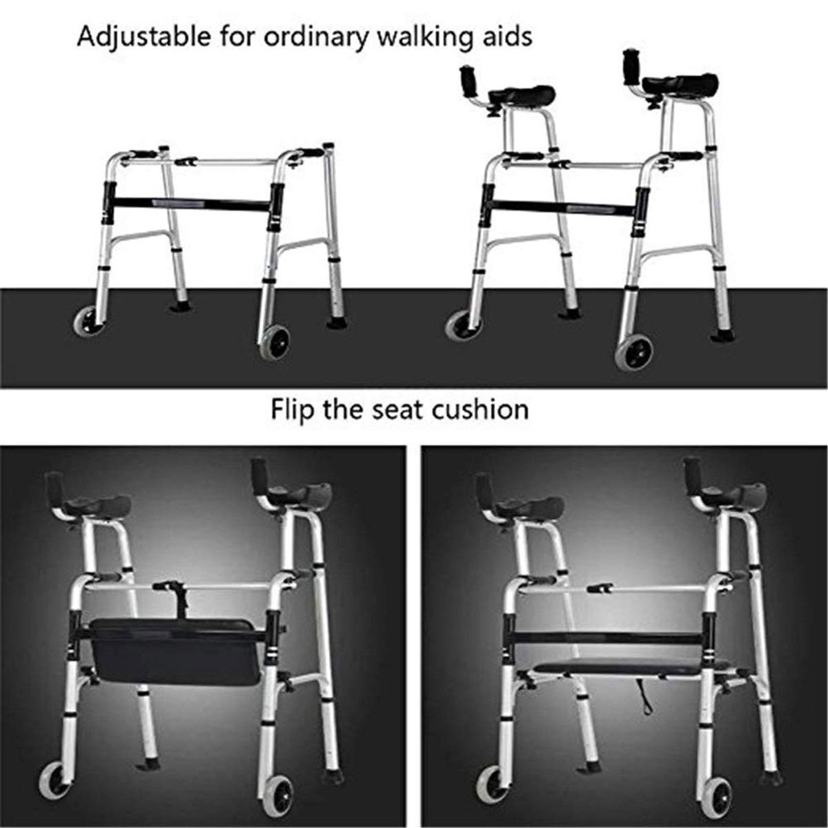 Amazon.com: PMent Standard Walkers - Andador plegable para ...