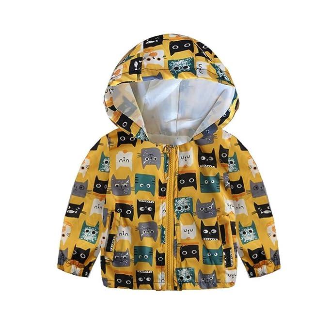 Ropa Bebe, ❤ Modaworld Niño pequeño bebé niñas niños de Manga Larga de Dibujos Animados de impresión con Capucha Tops Trajes Chaqueta Sudaderas Abrigos ...