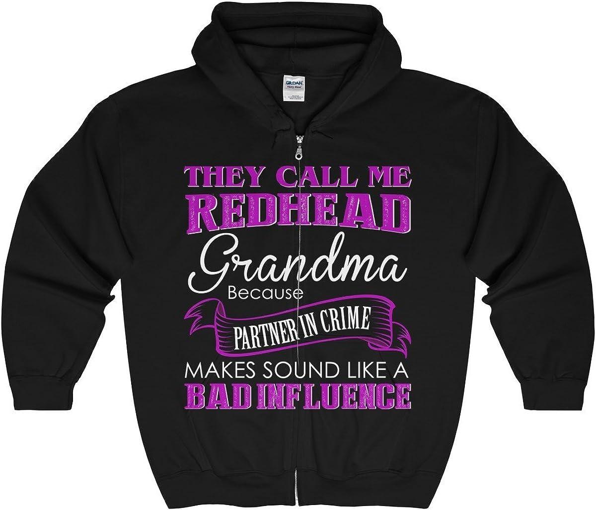 Tee Doryti I am Redhead Grandma Unisex Zip Hooded Sweatshirt