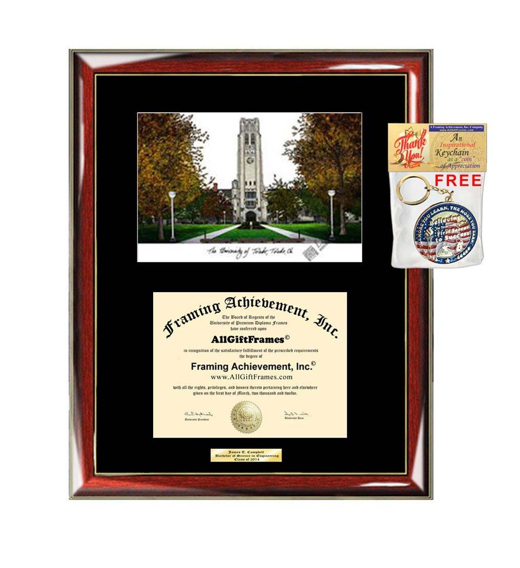 Universität Toledo Diplom Rahmen Druckvorlage von Graduation Custom ...