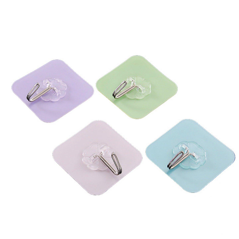 SODIAL Agganciare forti ganci cuscinetto adesivo seamless parete della parete della cucina gancio pasta bagno gancio ventosa