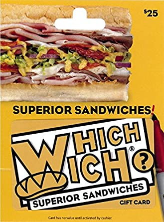 amazon com which wich 25 gift card gift cards