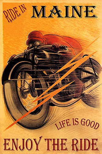 RIDE IN MAINE MOTORCYCLE RIDING BIKE LIFE IS GOOD ENJOY THE RIDE 20