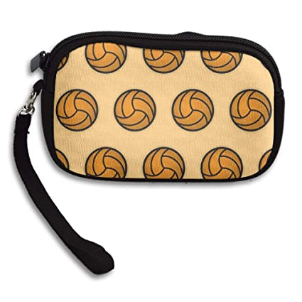 01c8b783a6a5 Image Unavailable. Image not available for. Color  Seamless Pattern  Volleyball Canvas Coin Purse Student Pencil Case Pen Pouch Cosmetic ...