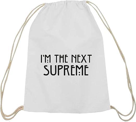 Camiseta street24, AHS – I m the Next Supreme, algodón natural Turn Bolsa Mochila Bolsa de deporte weiß natur: Amazon.es: Hogar