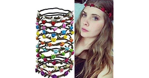 Amazon.com: Conjunto de 6 colores surtidos Hippie Flor ...