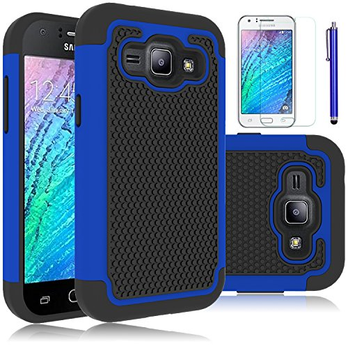 Slim Shockproof Case for Samsung Galaxy J1 (Dark Blue) - 1