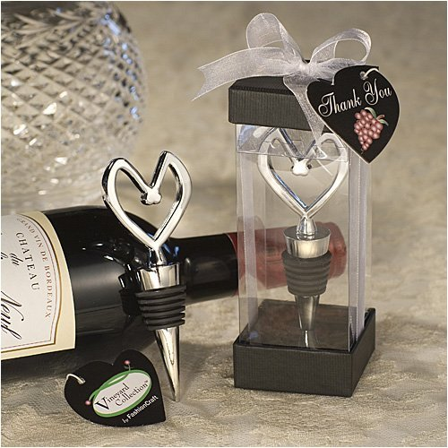 Vineyard Collection Heart Themed Wine Stopper Favors, - Bridal Vineyard Collection