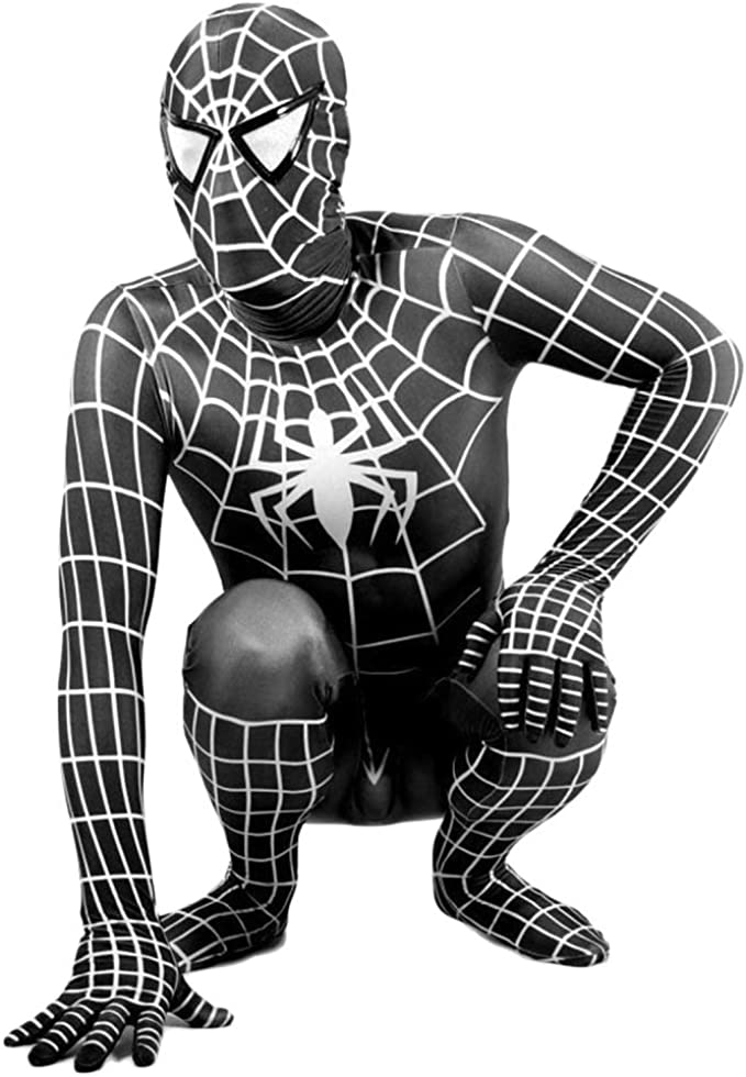 SPIDERMANHTT Disfraz de Cosplay Spiderman Niños adultos Negro ...