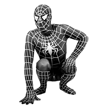 WEGCJU Traje Negro De Spider-Man Fancy Dress Party Jumpsuit ...
