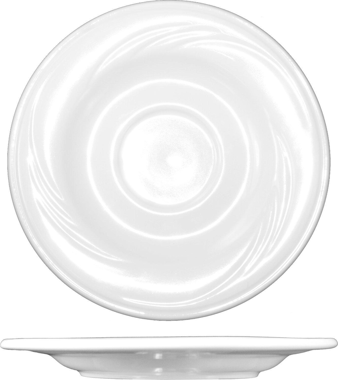 ITI AM-2 AMSTERDAM Embossed Pattern 36-Piece Saucer, 5-3/4-Inch, White