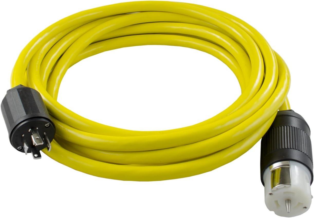 Conntek Transfer Switches Cord/Temp Power Cord, L14-30P 30-Amp 4 Prong Twist Lock Plug to CS6364 50-Amp Twist Lock Female