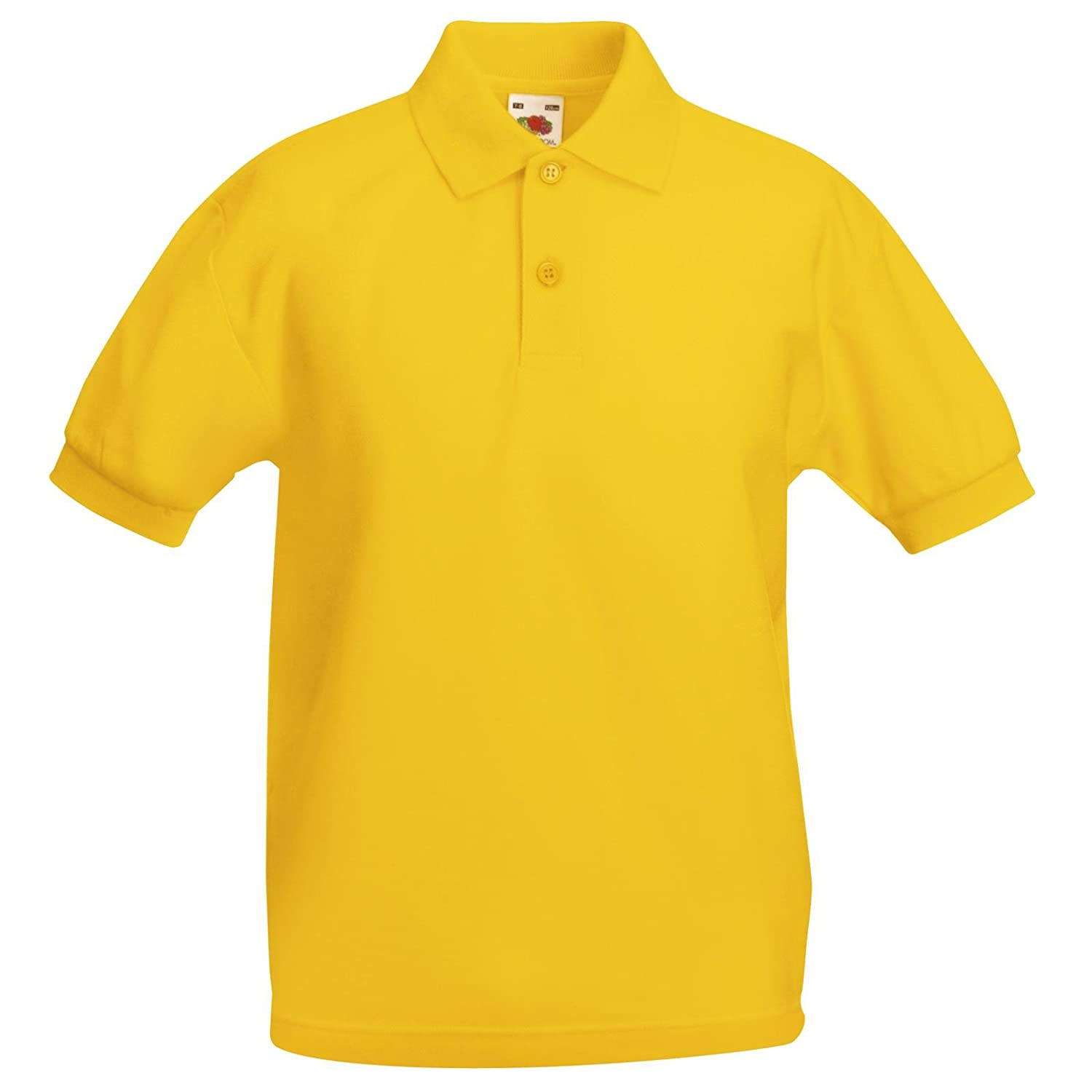 Fruit of the Loom New Childrens Kids Polycotton Polo Shirt