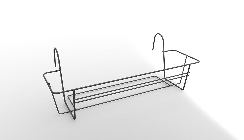 Elho 1270130142500 40 cm green basics Rack for Balcony Trough - Anthracite