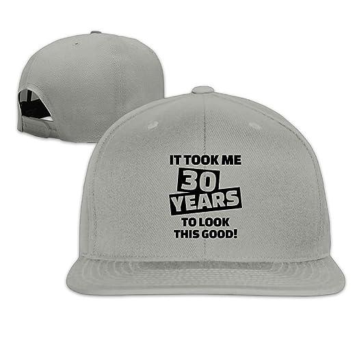 Safan532 Unisex 30th Birthday Word Design Cotton Snapback Hip Hop Flat Tongue Hats Adjustable Baseball Caps Hat At Amazon Mens Clothing Store