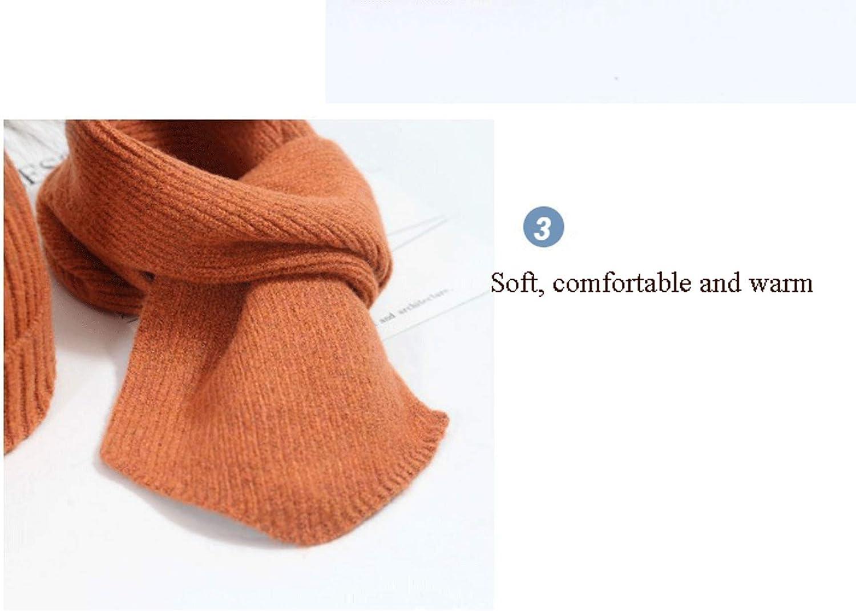 Beanie-M/ütze Strickschal PUPPYY 2-teiliges Winter-Set f/ür Kinder cremefarben stilvoller Strickschal M/ützen-Set f/ür Damen und Herren Anzug und warmer