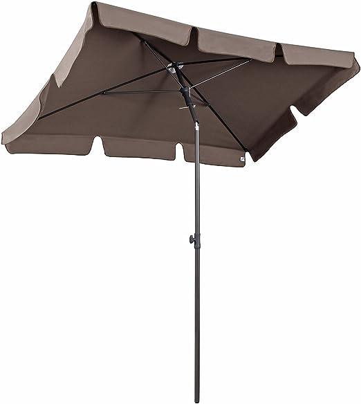 Sekey® Sombrilla 200 x 125cm Parasole para Terraza Jardín Playa Balcón Piscina Patio ,Protector Solar UV50+ , Rectángulo (Taupe): Amazon.es: Jardín