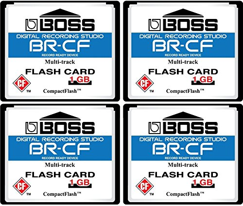 4-Pack 1GB Boss Roland BR-CF CompactFlash CF Memory Card for BR-600, BR-864, BR-900CD, MC-808 (4Pack)