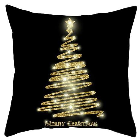 Abcidubxc Funda de cojín estilo nórdico, Navidad, Holiday ...