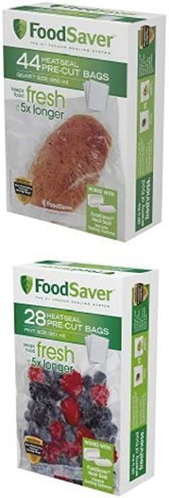 FoodSaver 44 Quart-sized Bags and 28 Pint-sized Bags Bundle