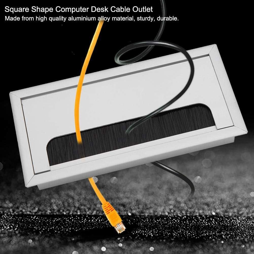 Small Presa per copertura del foro del filo dellotturatore del PC quadrato Scrivania del passacavo del computer