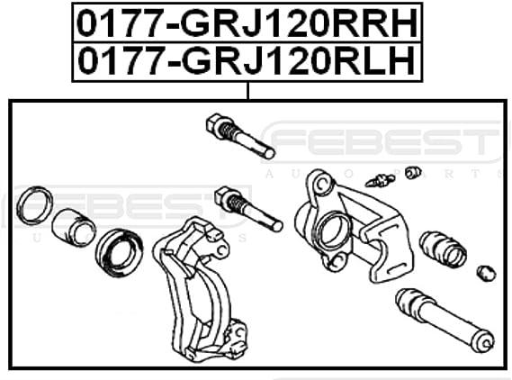 4775060130 Front Left Brake Caliper For Toyota Febest