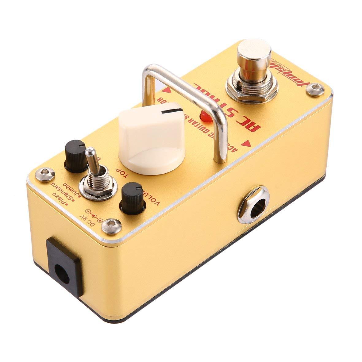 Heaviesk para Aroma AAS-3 AC Stage Simulador de Guitarra acústica Mini Pedal de Efecto de Guitarra eléctrica con True Bypass Accesorios para Guitarra: ...