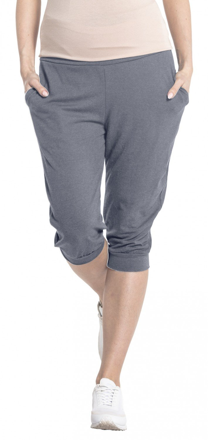 HAPPY MAMA. Women's Maternity Crop Trousers Elastic Belly Band Pants. 699p pregpants_699