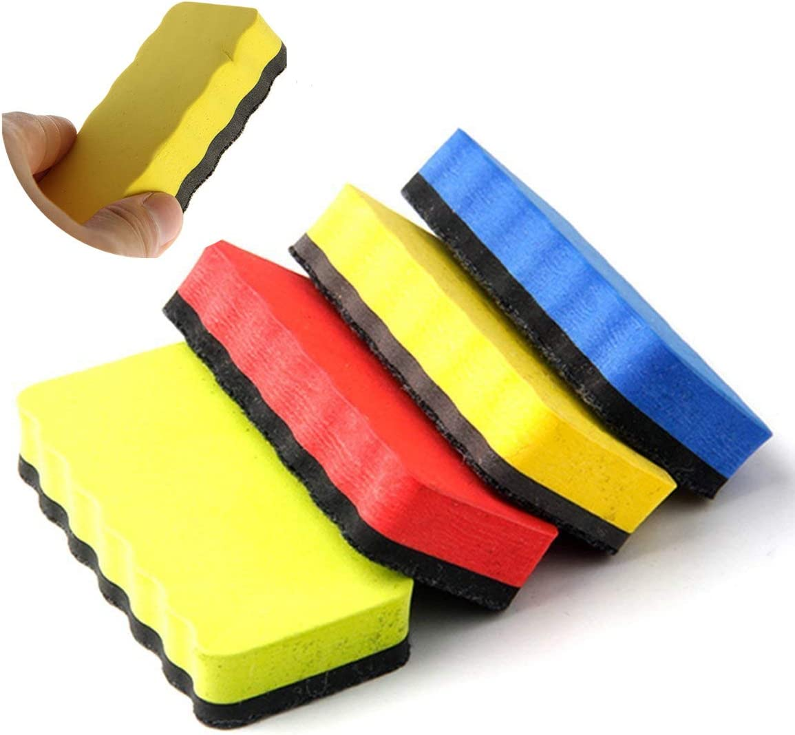 Colorful Magnetic Whiteboard Eraser Dry Erasers Chalkboard Cleansers Foam Wiper for Kids School Office Supplies Office Stationery