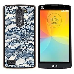 For LG L Bello L Prime D337 - Blue Wind Waves Octopus White /Modelo de la piel protectora de la cubierta del caso/ - Super Marley Shop -