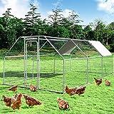 Giantex Large Metal Chicken Coop Walk-in Chicken Coops...
