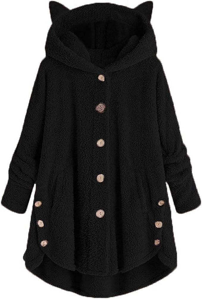 Fashion Womens Loose Fit Pocket Hoodie Long Sleeve Sweatshirts Coat Slim Coat
