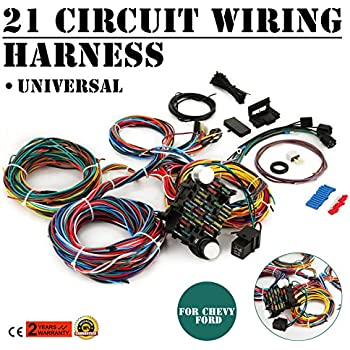 amazon com ez wiring 21 standard color wiring harness automotive deville wiring harness mophorn 21 circuit wiring harness kit long wires wiring harness 21 standard color wiring harness kit for chevy mopar hotrods ford chrysler universal