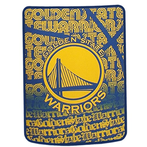 NBA Golden State Warriors Redux Micro Raschel Throw, Yellow,