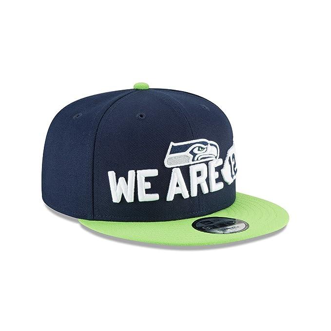 new style f7f36 9003a Amazon.com  New Era Seattle Seahawks 2018 NFL Draft Spotlight Snapback  9Fifty Adjustable Hat  Clothing