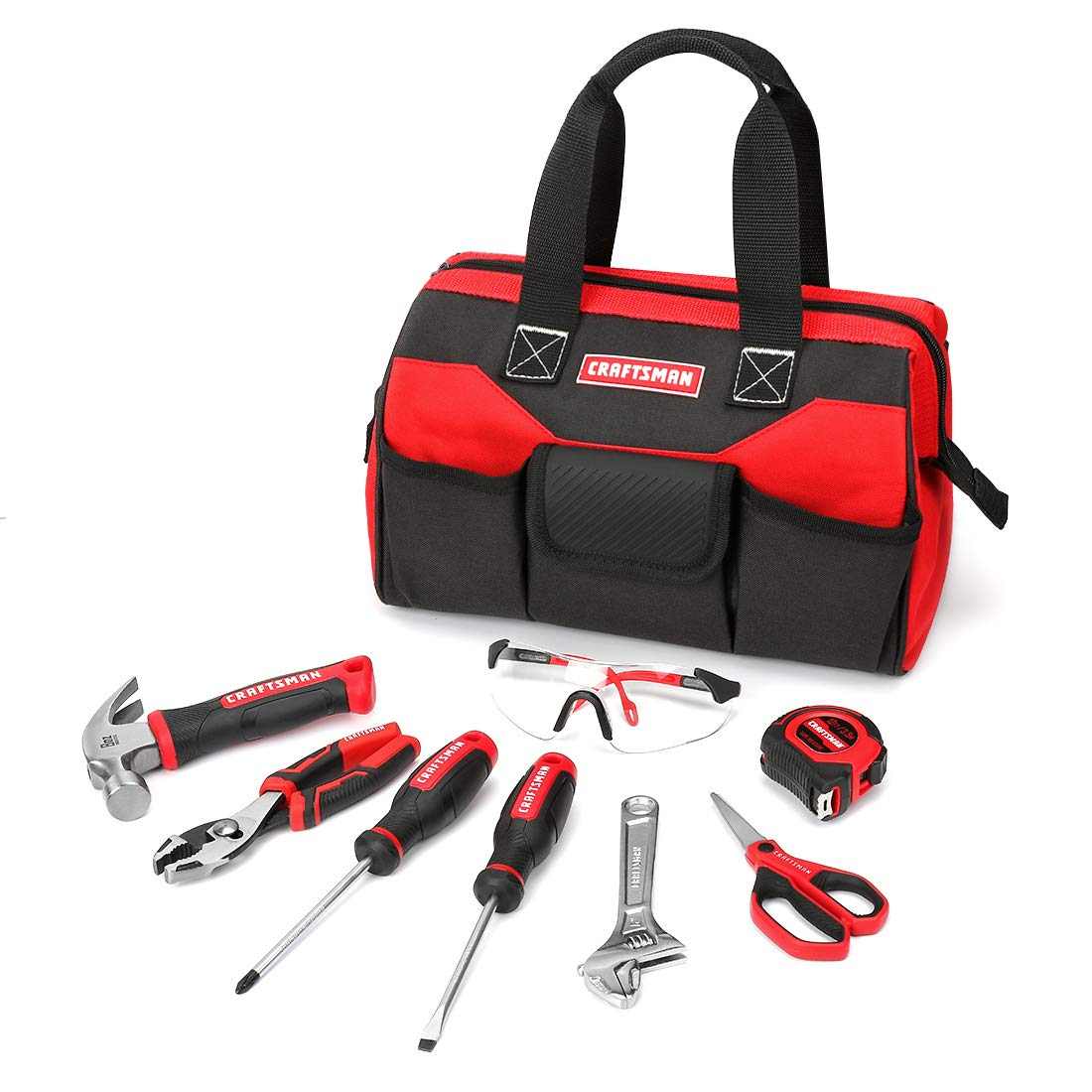 Craftsman CMXTYAG65549 8Piece Kids Junior Tool Set with Tool Bag, Real Tools & Accessories For Boys & Girls, Age 8+