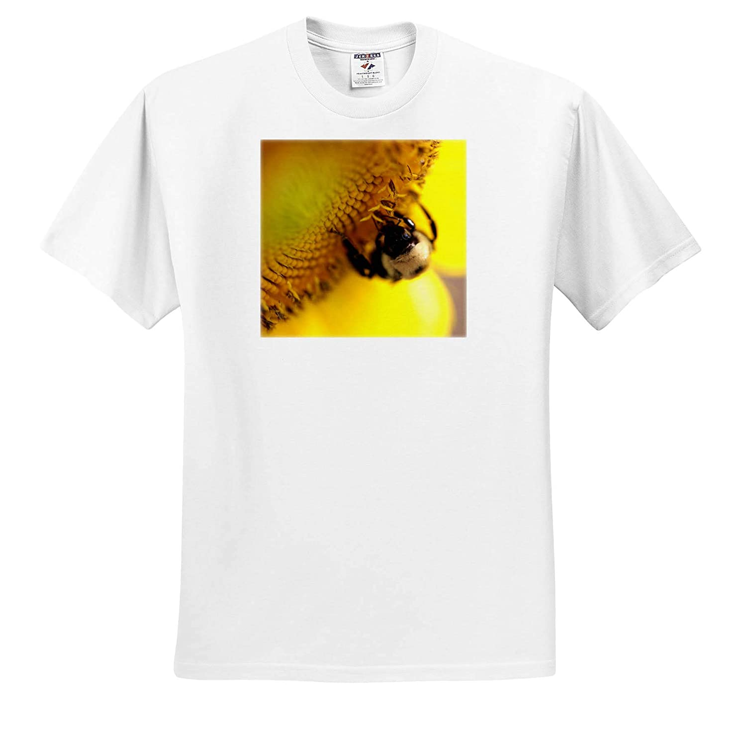 Macro Photograph of a Carpenter bee on a Sunflower - Adult T-Shirt XL Insect 3dRose Stamp City ts/_320120
